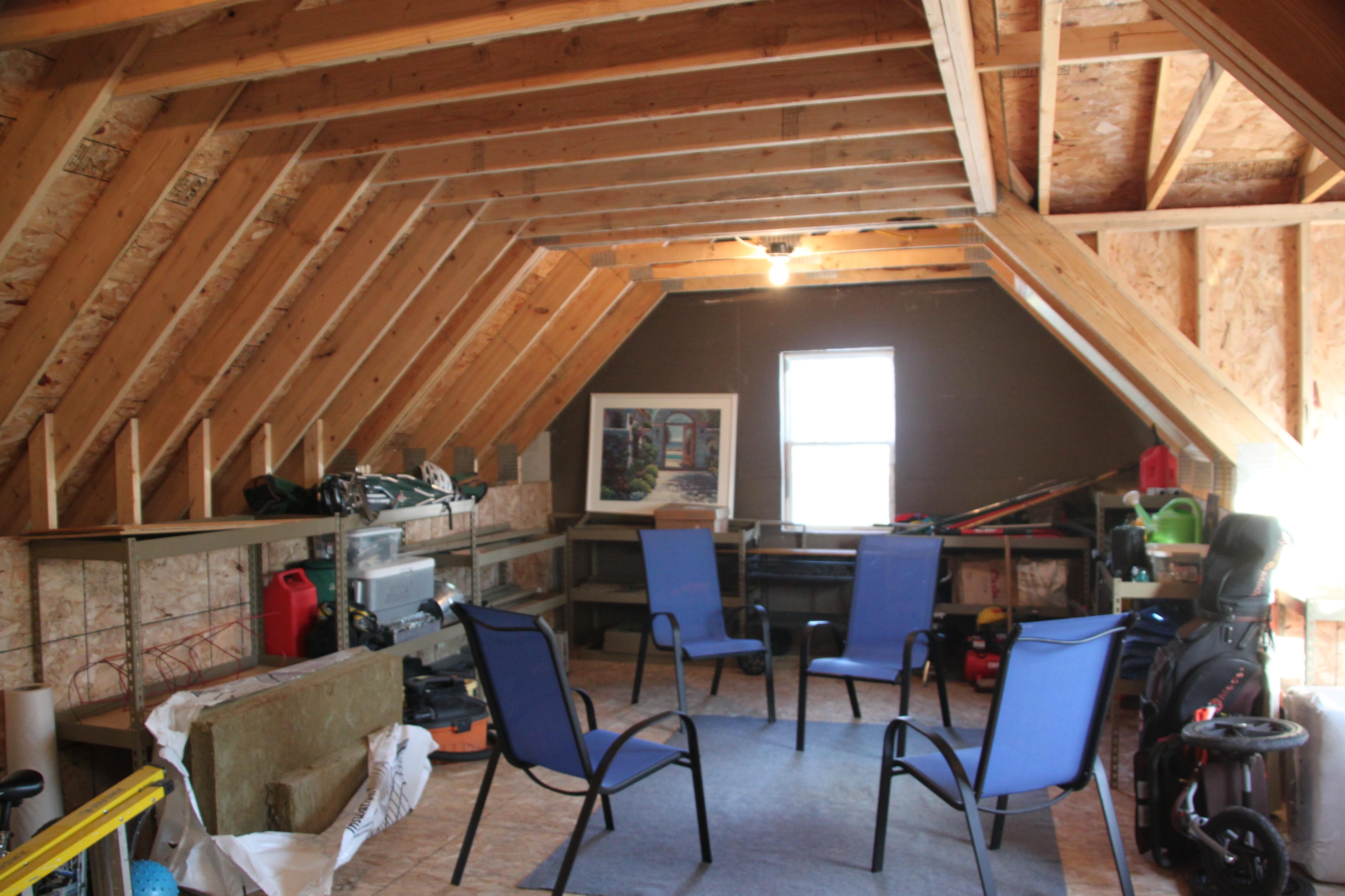 ... attic truss ... & 2 Car 2 Story Garage Using Attic Trusses and Dormer