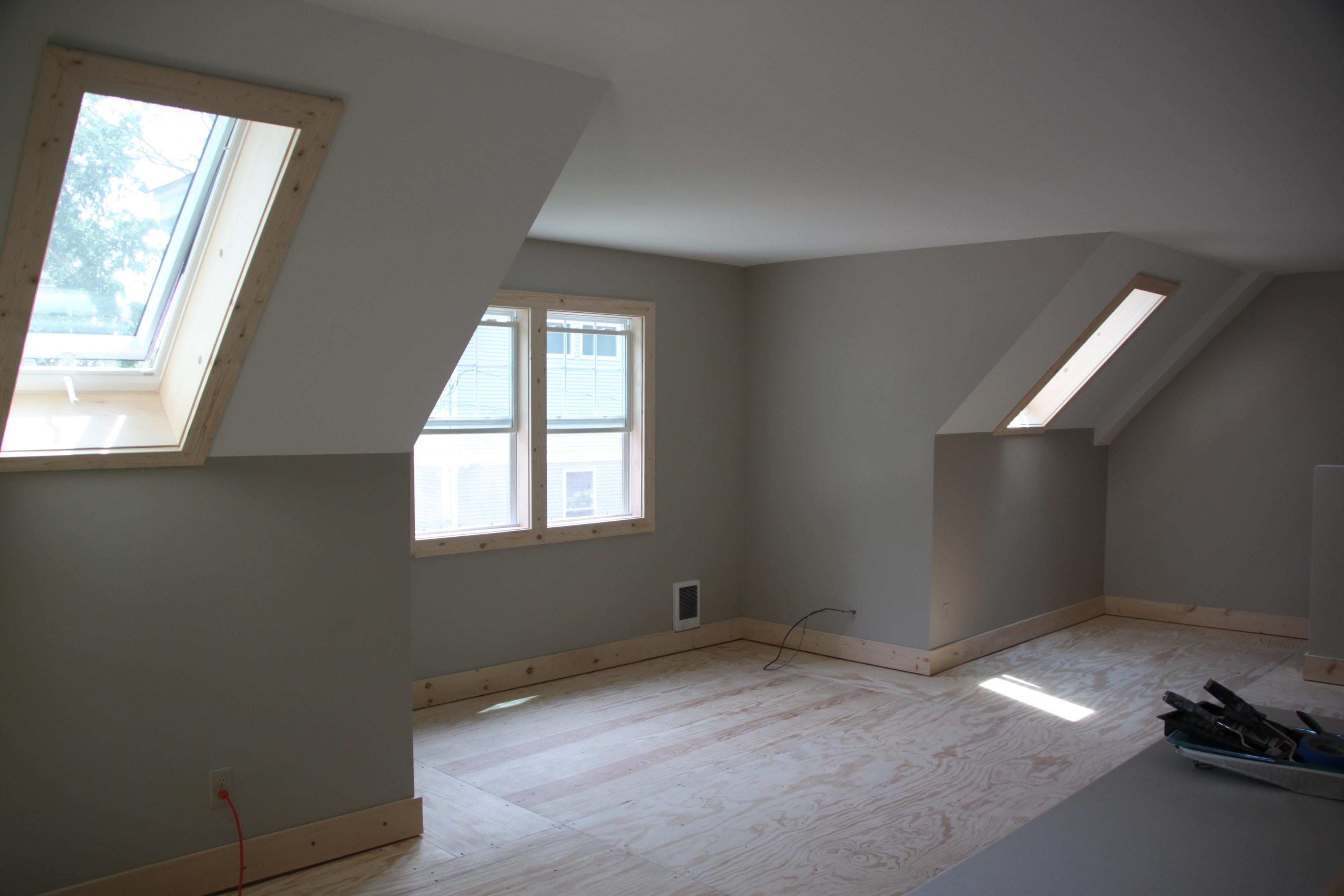 Dormer Room 2 car 2 story garage using attic trusses and dormer