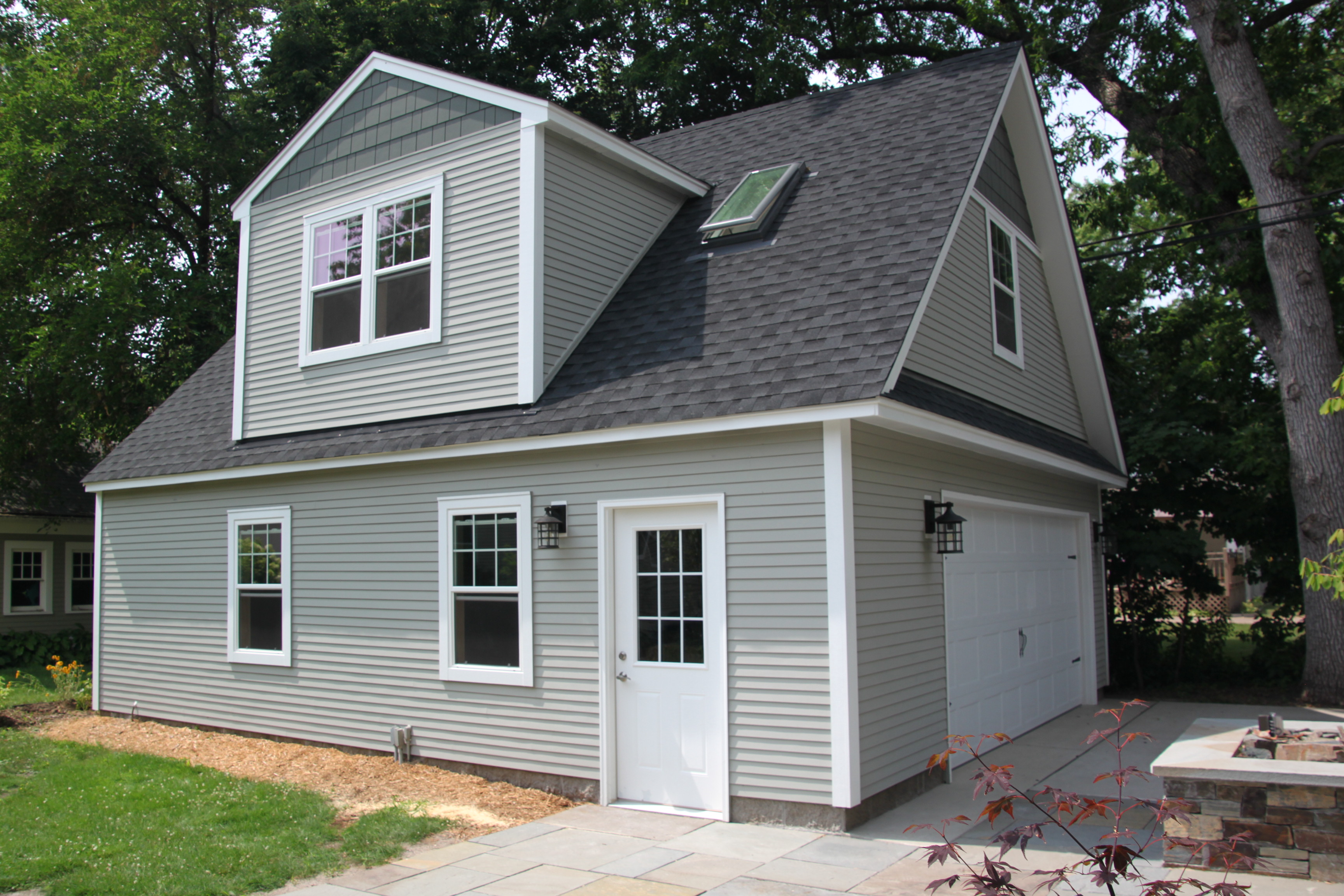ideas for finishing a garage floor - 2 Car 2 Story Garage Using Attic Trusses and Dormer