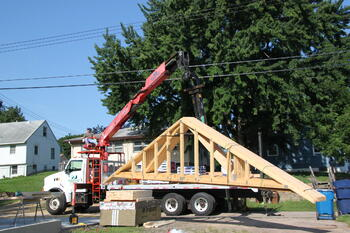 Garage Roof Truss Delivery1