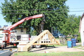 Garage Roof Truss Delivery4