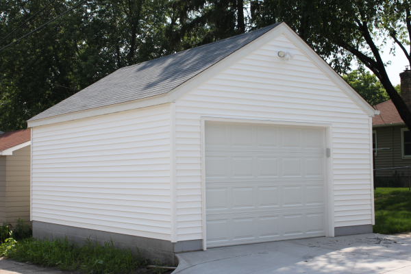 Garage builders mn garage sizes western construction inc for Dimensions single car garage
