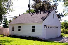 St Louis Park, MN 8/12 storage truss roof garage style