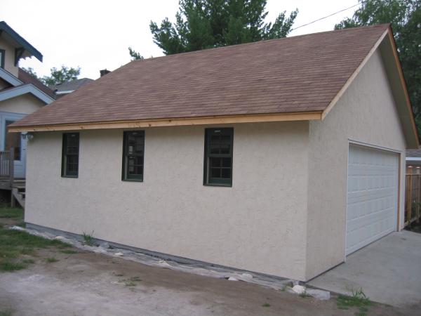 Saint Paul Stucco Garage