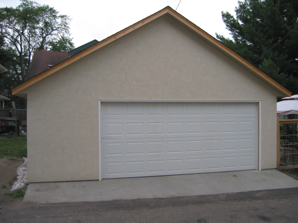 St Paul Stucco Garage