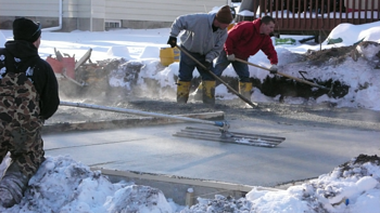 Western Garage Builders Winter Garage Slab