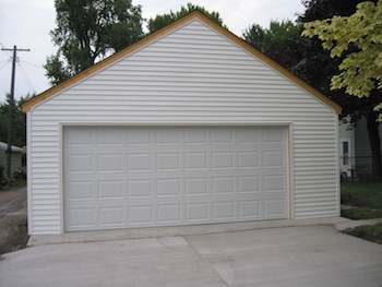2 CarGarage With Storage Rafters