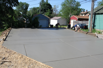 Two Car Garage Slab Flat Ground