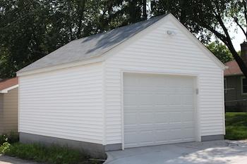 Mpls Garage Builders single car garage with storage