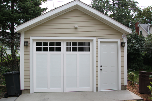 Affordable detached garage builder single car garages for Single car detached garage plans