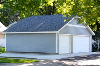 St Paul MN large 2 car garage style with a dutch hip roof style