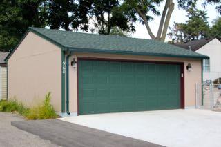 24x24_2 car garage James_Hardie_Stucco_Board_Garage style