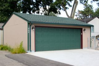 24x24_2 car garage James_Hardie_Stucco_Board_Garage style