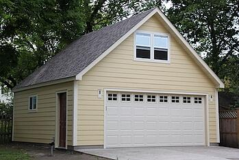 Garage builders mn garage styles average garage size for Gable roof garage