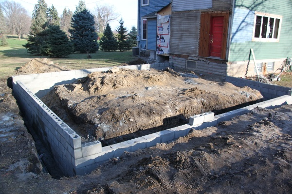 custom attached garage footings