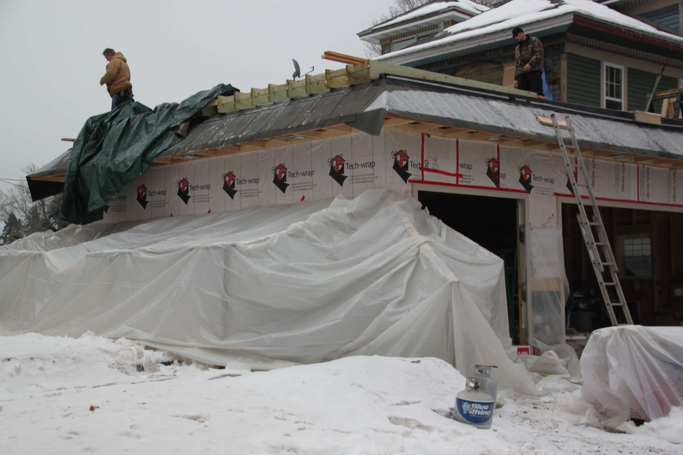 custom garage builders winter construction