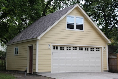 Garage Builders 2 story 2 car garage