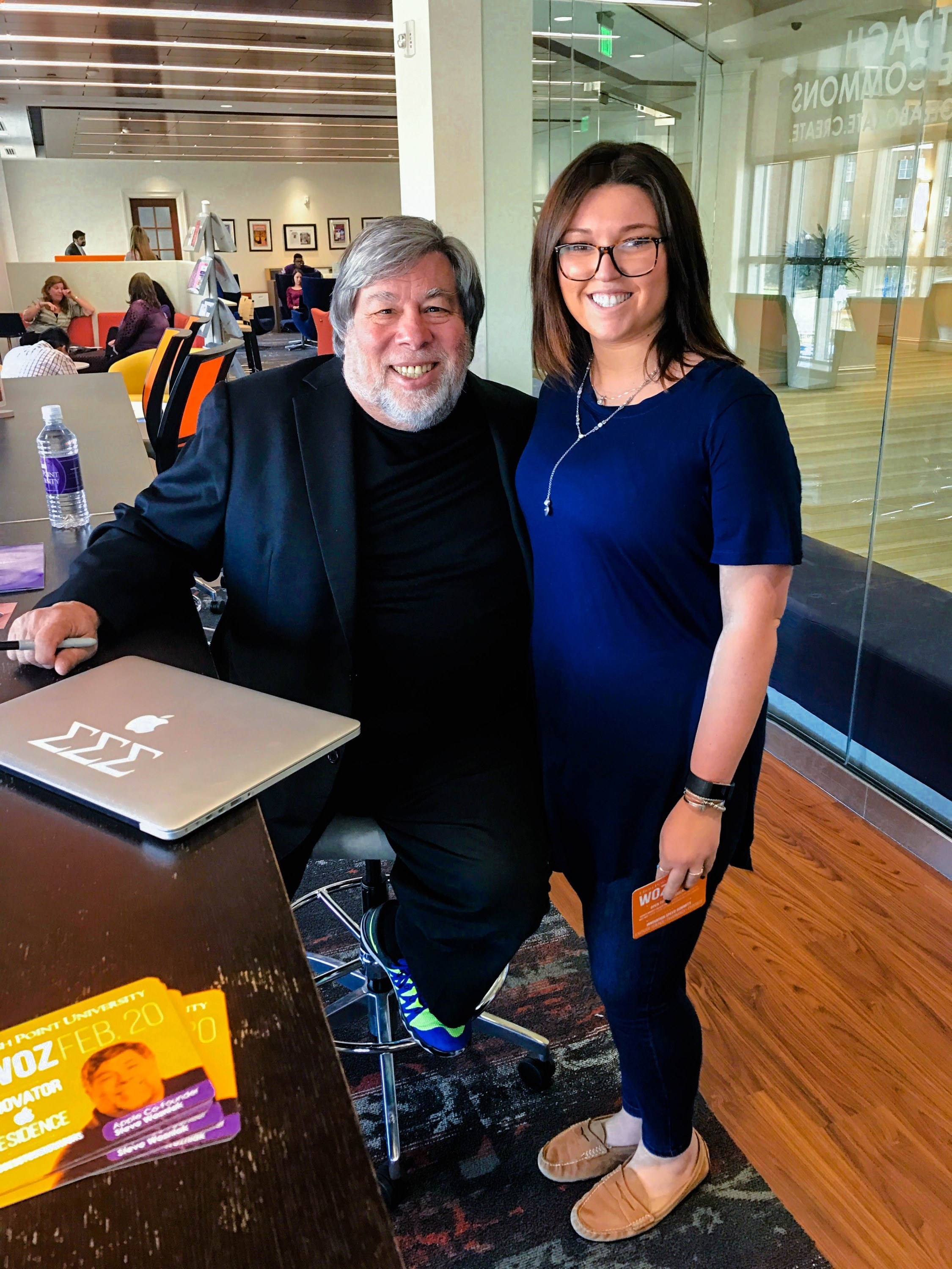 Hannah Chazin Meets Apple Computer Co-Founder Steve Wozniak